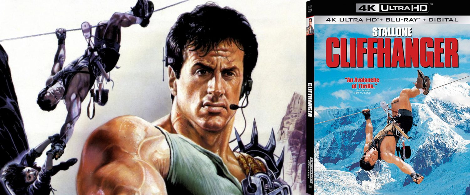 Sylvester Stallone stars in Cliffhanger, now available on DVD.