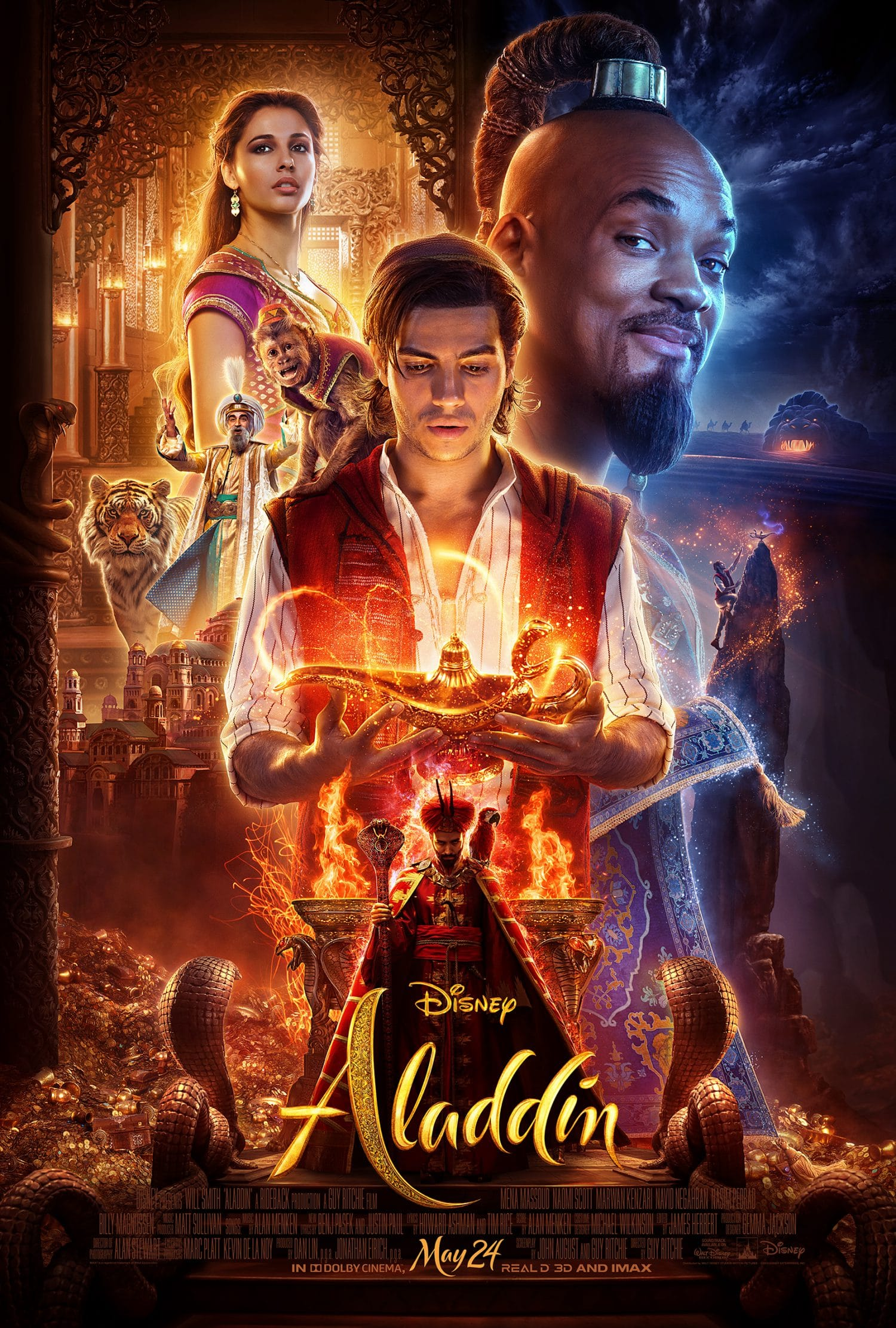 Take a look at the one sheet poster for the new live action Aladdin movie from Disney.