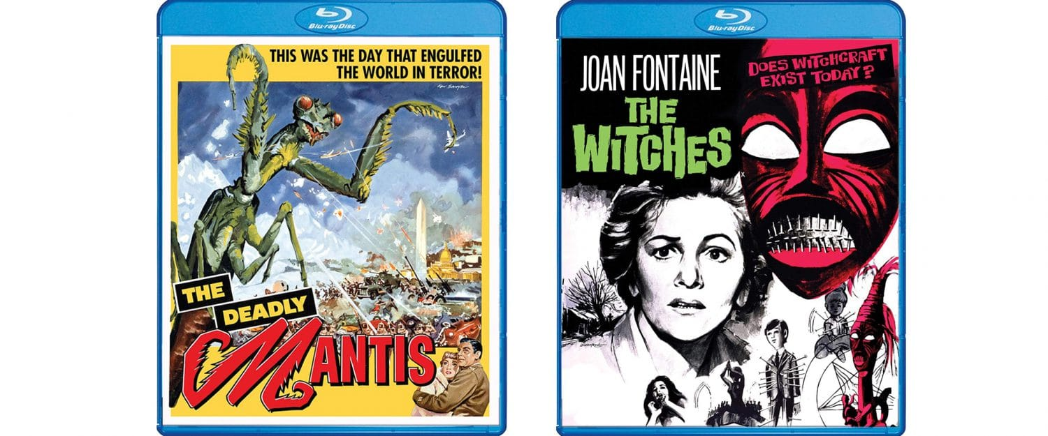 The Deadly Mantis and The Witches both arrive on Blu-ray this week from Shout! Factory's Scream Factory label.