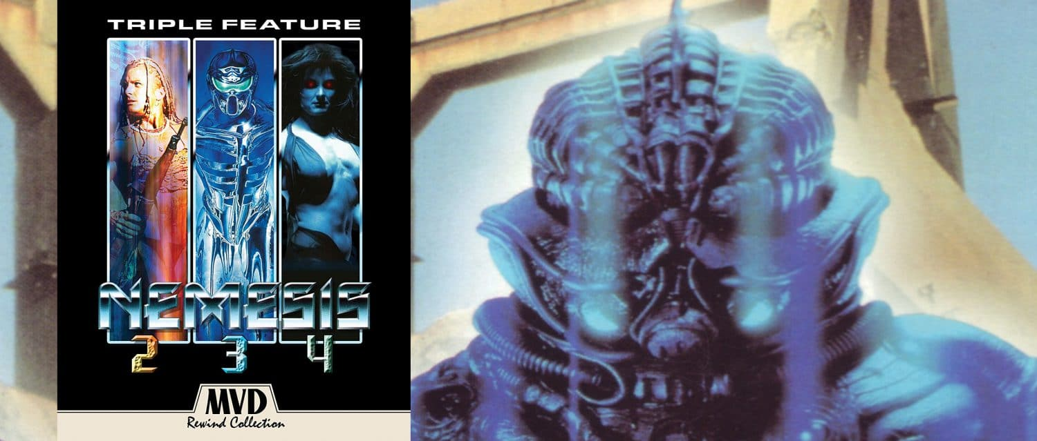 Nemesis 2, 3 and 4 all come out on Blu-ray this week from MVD.