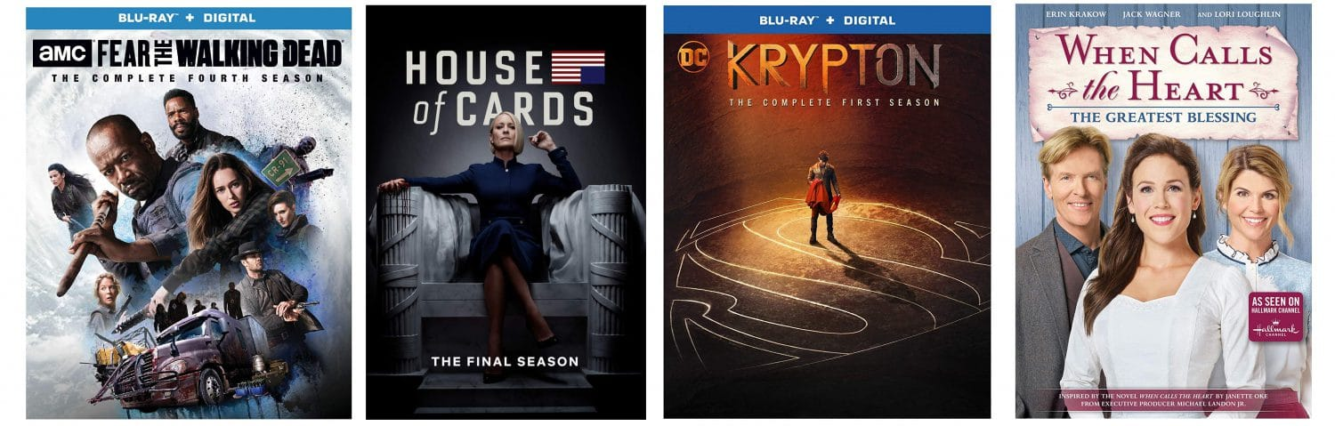 House of Cards, Krypton and more come to Blu-ray this week.
