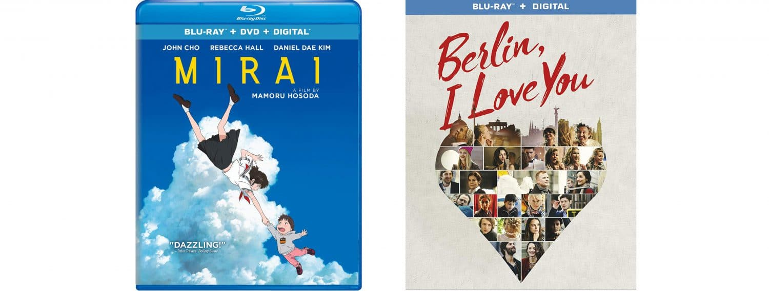 Mirai and Berlin, I Love You are both coming to Blu-ray this week.
