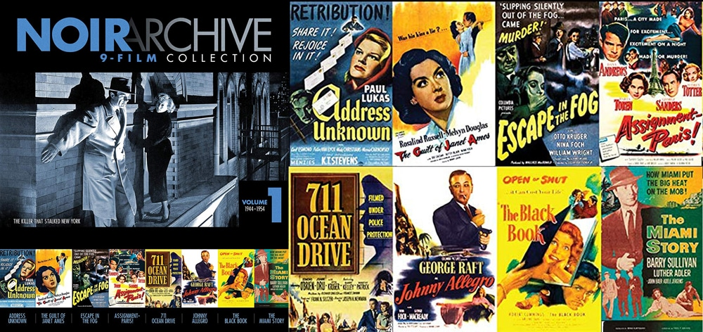 The Noir Archive volume one contains eight films.