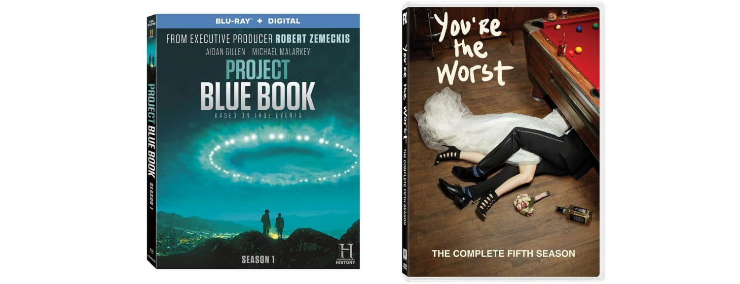 Project Blue Book and You're the Worst both come to home video this week.