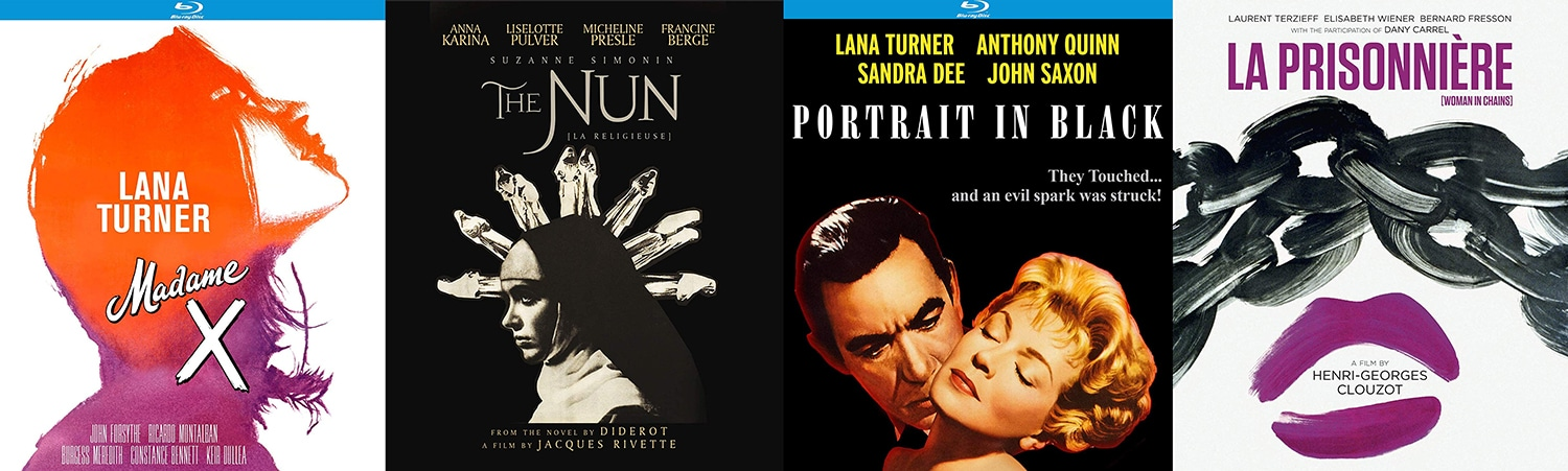 Look for The Nun, Portrait in Black, La Prisonniere and Madame X on Blu-ray this week from Kino Lorber.