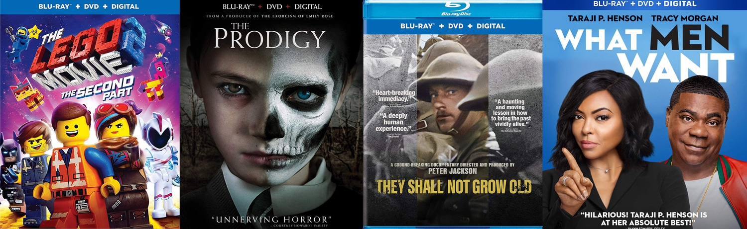 New releases this week include The LEGO Movie 2, The Prodigy, They Shall Not Grow Old and What Men Want.