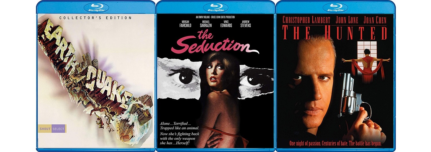 Check out The Seduction, Earthquake and The Hunted on Blu-ray this week from Shout! Factory.