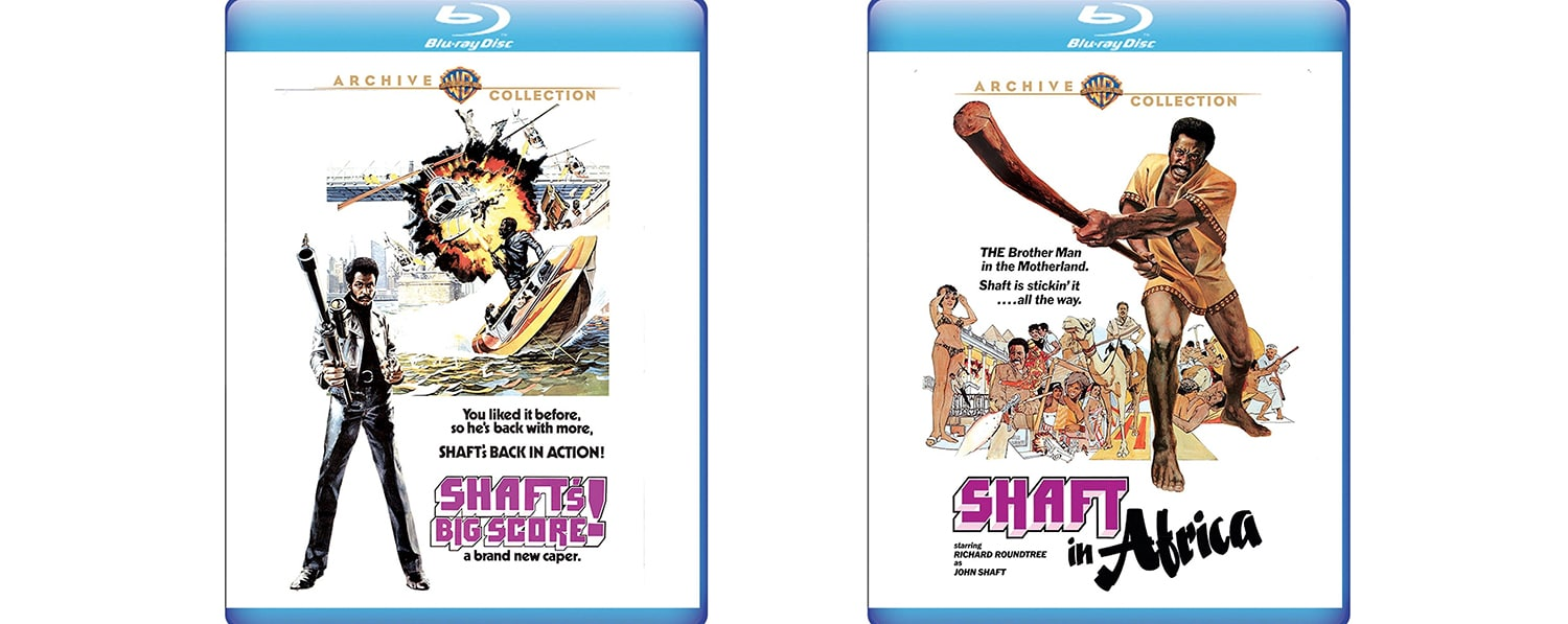 Warner Archive is bringing to Blu-ray two Shaft sequels, Shaft in Africa and Shaft's Big Score.
