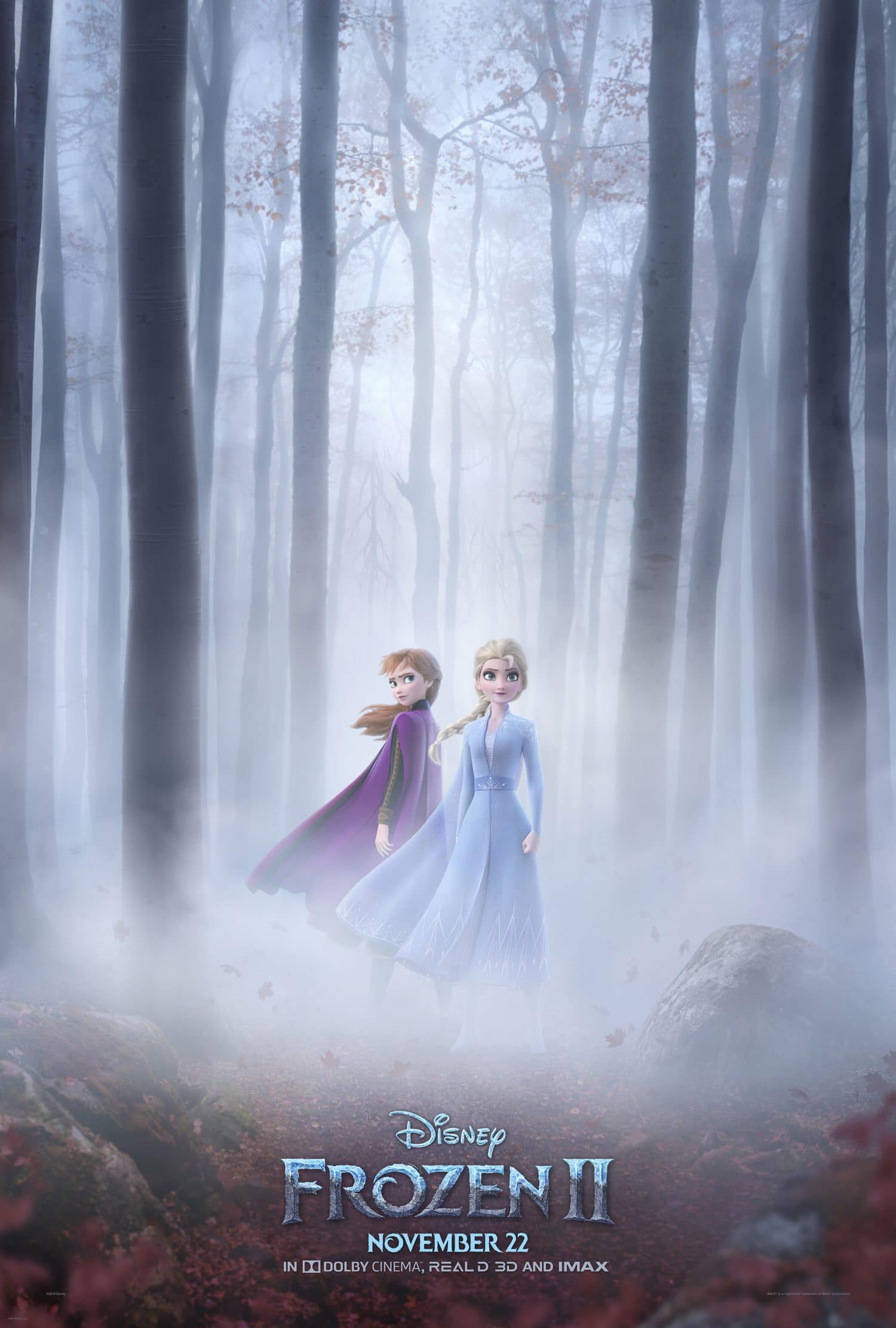 Take a look at Anna and Elsa on a new Frozen II movie poster.