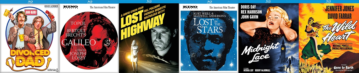 Look for lots of great titles coming from Kino Lorber, including Divorced Dads, Lost Highway, Lost in the Stars and more!