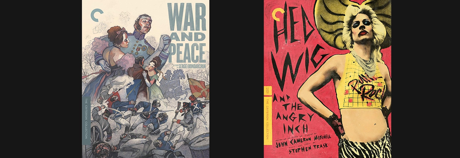 Look for both War and Peace and Hedwig and the Angry Inch to join the Criterion Collection this week.