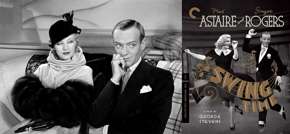 Look for Fred Astaire and Ginger Rogers to dance their way into the Criterion Collection this week with Swing Time on Blu-ray.