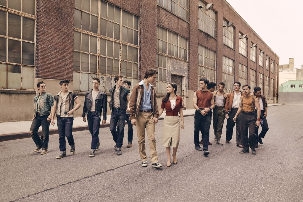 Ansel Elgort, Rachel Zegler, Ariana DeBose, Ana Isabelle, Corey Stoll, Brian d'Arcy James, Curtiss Cook, Rita Moreno star in West Side Story.