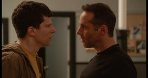 "Jesse Eisenberg (left) as ""Casey"" and Alessandro Nivola (right) as ""Sensei"" in writer/director Riley Stearn's THE ART OF SELF-DEFENSE, a Bleecker Street release. Credit: Bleecker Street"