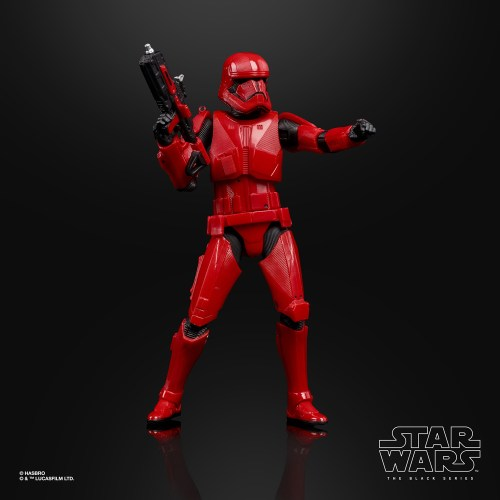 Take a look at the Sith Trooper as he or she appears in the upcoming Star Wars: The Rise of Skywalker.