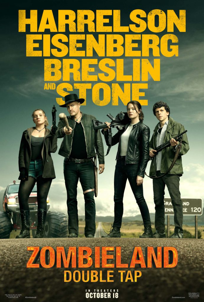Watch the Zombieland 2: Double Tap movie trailer for a look at the upcoming zombie comedy action sequel.