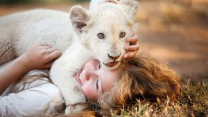 Daniah De Villiers stars alongside Thor the lion in Mia and the White Lion.