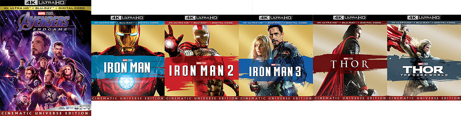 Not only does this week bring Avengers: Endgame to Blu-ray, Dvd and 4K ultra HD, but also 4K editions of all three iron man movies and the first two Thor movies.