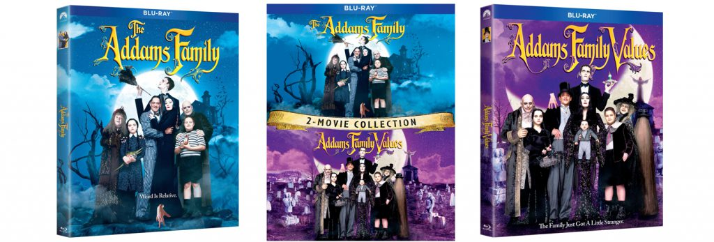 The Addams Family and Addams Family Values are both hitting DVD and Blu-ray this week alongside a combo pack.