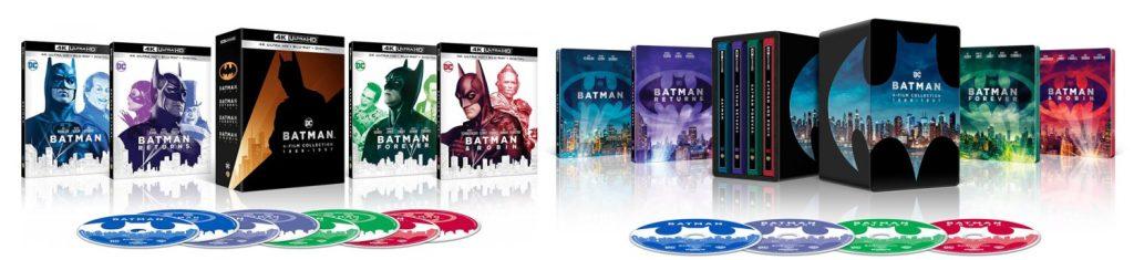 Batman, Batman Returns, Batman Forever and Batman and Robin are hitting 4K Ultra HD.
