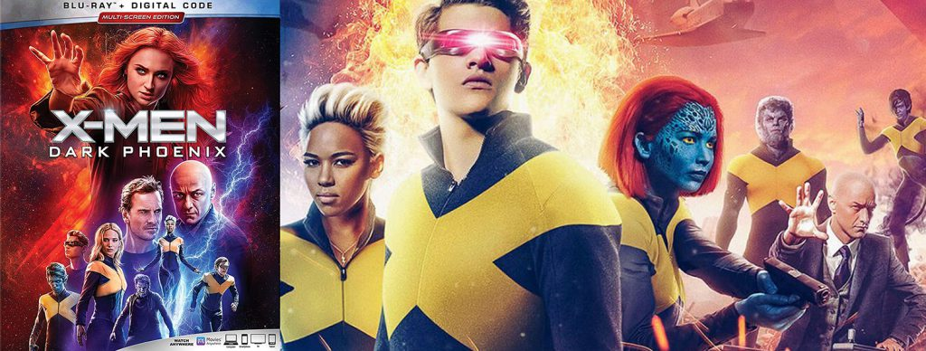 The X-Men movie sequel Dark Phoenix hits DVD, Blu-ray and 4K Ultra HD this week.