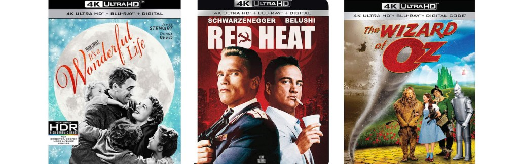 Red Heat, It's a Wonderful Life and The Wizard of Oz are all coming to 4K Ultra HD this week.