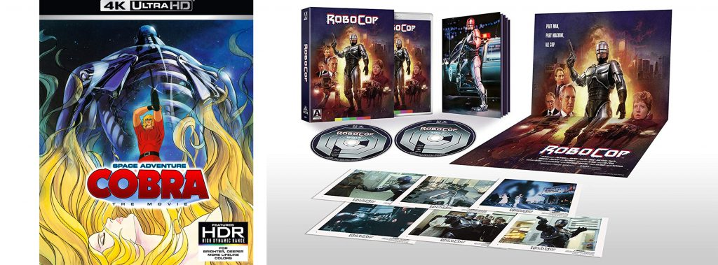 Both Space Adventure Cobra the Movie and RoboCop get new special editions today.