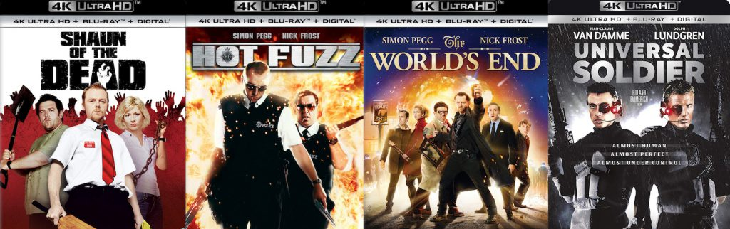 The full cornetto trilogy (Shaun of the Dead, Hot Fuzz and The World's End) are coming to Blu-ray and 4K Ultra HD this week.
