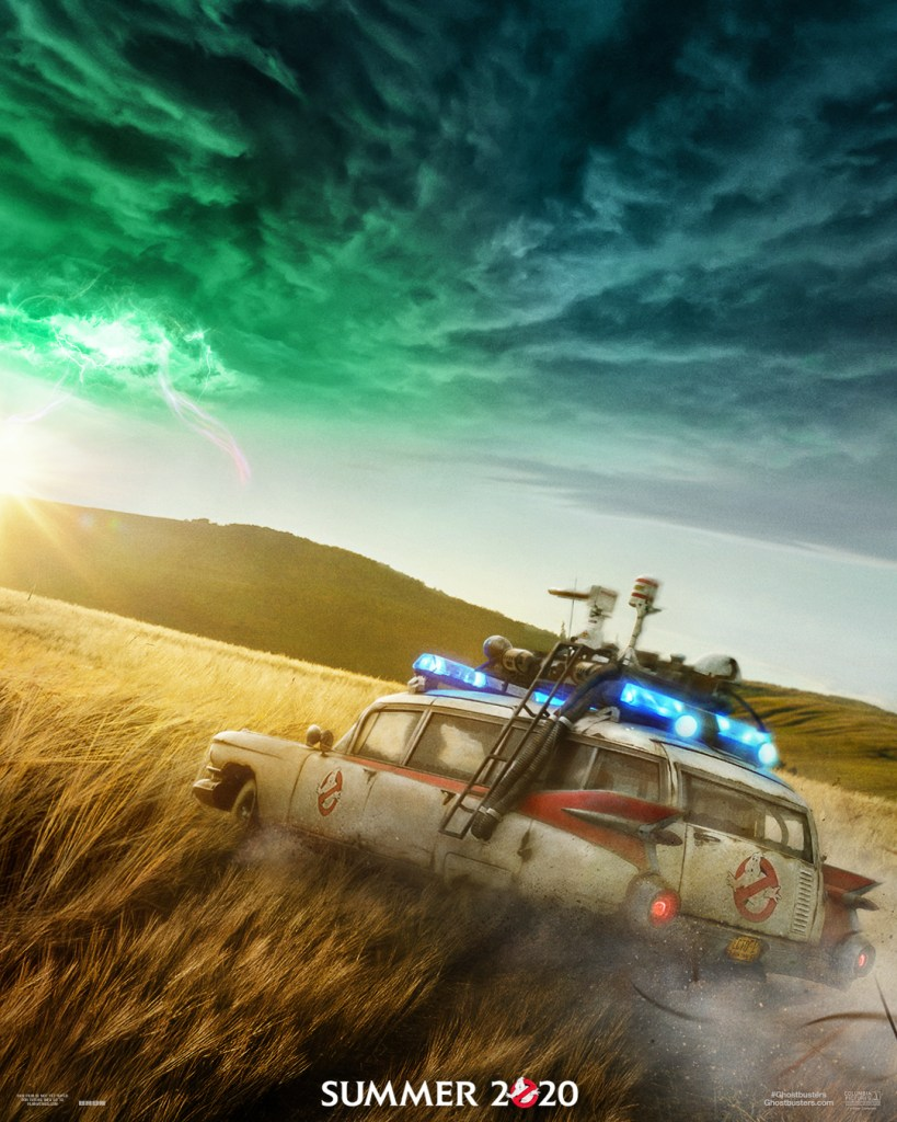 Take a first look at the Ghostbusters: AFterlife movie poster.