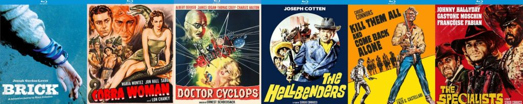 Take a look at what's coming to blu-ray this week from Kino Lorber: Doctor Cyclops, The Hellbenders, The Specialists, and lots more!