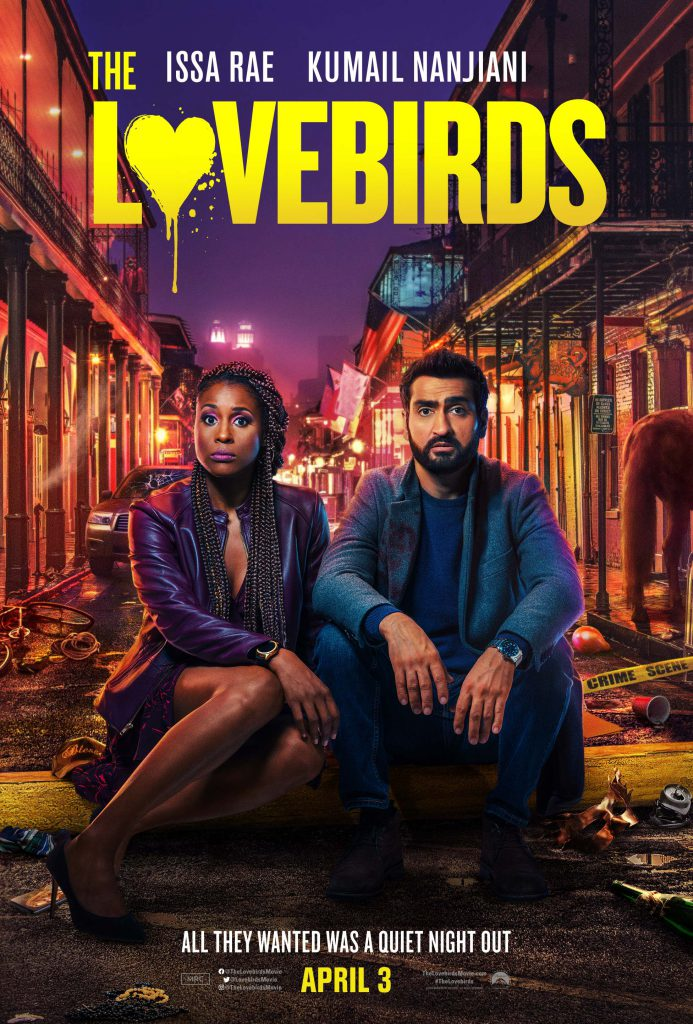 Issa Rae and Kumail Nanjiani star in The Lovebirds movie.