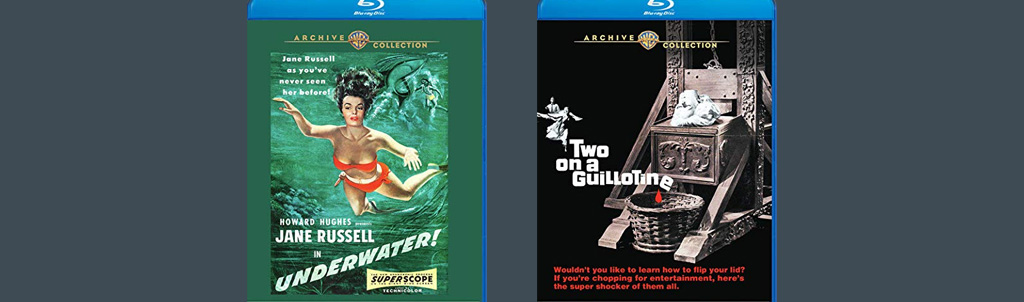 Underwater! and Two on a Guillotine are both headed to blu-ray from Warner Archive.