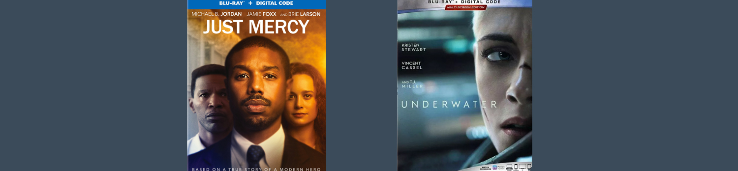 Just Mercy and Underwater both come home on Blu-ray and DVD this week.