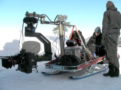 Flighthead 5 on snowmobile