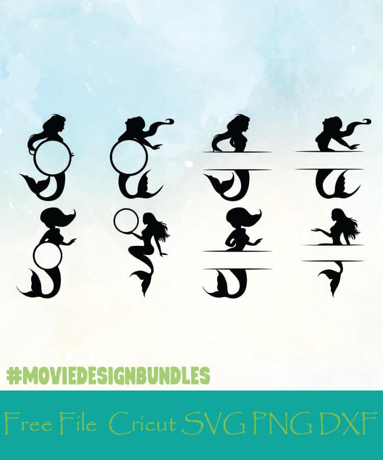 Monogram Mermaid Svg : monogram, mermaid, MERMAID, MONOGRAM, FRAMES, DESIGNS, CRICUT, Movie, Design, Bundles