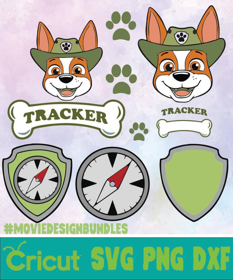Paw Patrol Tracker Bundle Svg Png Dxf Movie Design Bundles