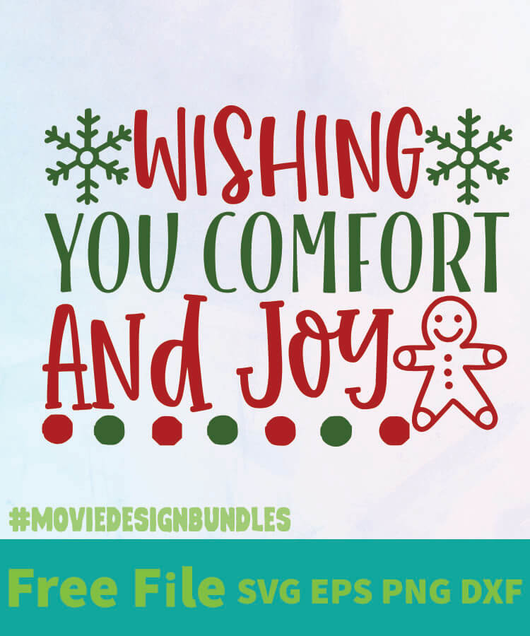 Download WISHING YOU COMFOR AND JOY 01 FREE DESIGNS SVG, ESP, PNG ...