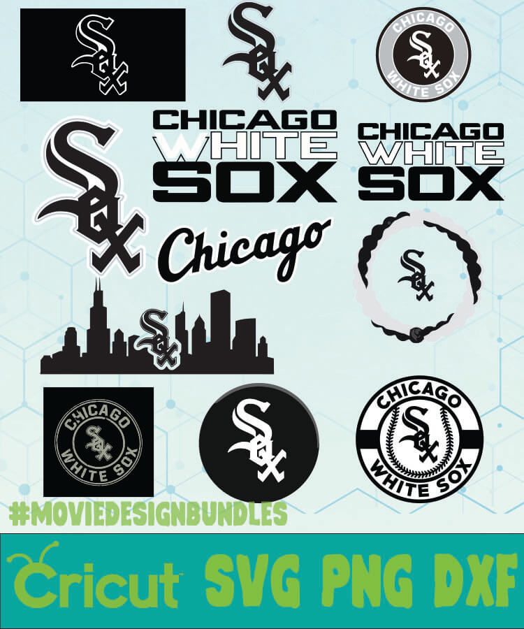 Chicago White Sox Mlb Bundle Logo Svg Png Dxf Movie Design Bundles