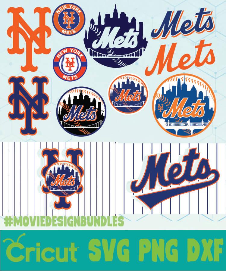 New York Mets Mlb Bundle Logo Svg Png Dxf Movie Design Bundles