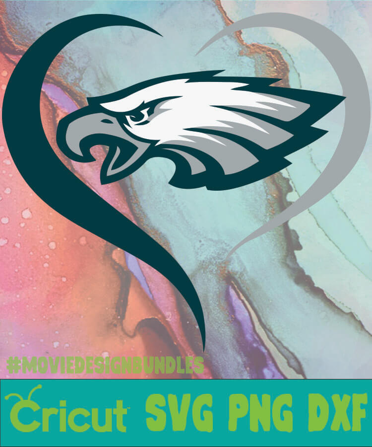 Cricut Philadelphia Eagles Svg Free : cricut, philadelphia, eagles, PHILADELPHIA, EAGLES, HEART, Movie, Design, Bundles