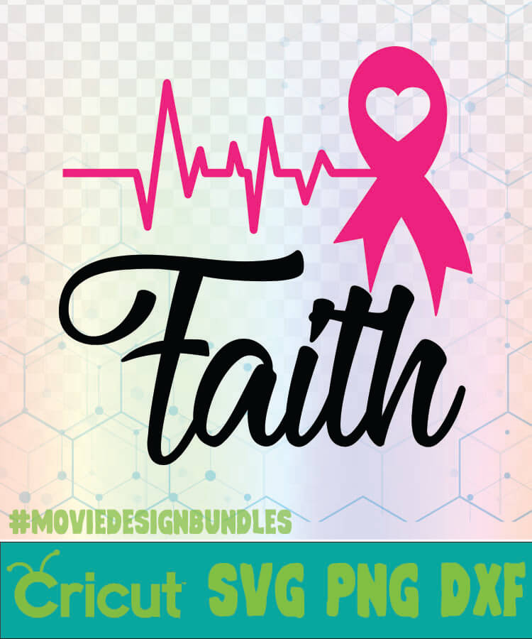 Breast Cancer Svg : breast, cancer, FAITH, PULSE, BREAST, CANCER, AWARENESS, QUOTES, Movie, Design, Bundles