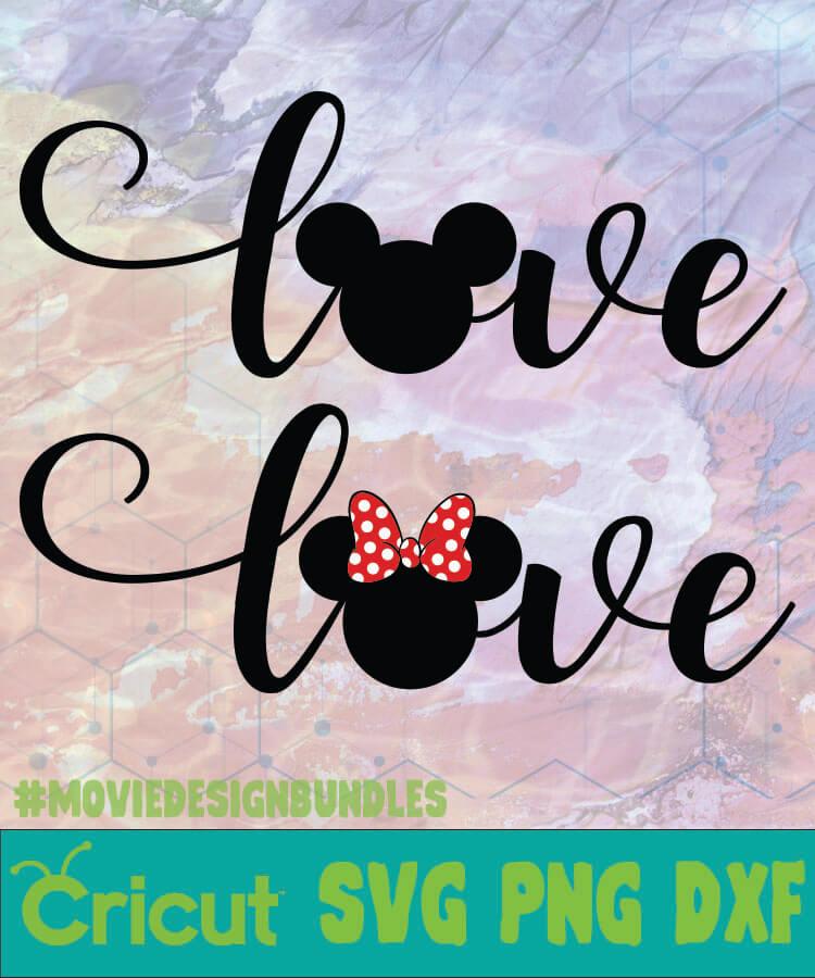 Download MICKEY MINNIE LOVE MICKEY LOGO SVG PNG DXF - Movie Design ...