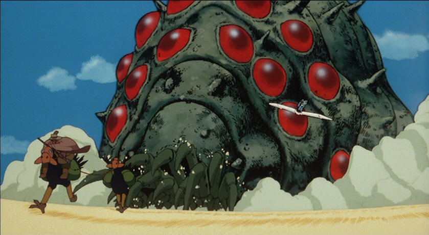 The ohmu insect from the 1984 Miyazaki film, Nausicaä of the Valley of the Wind