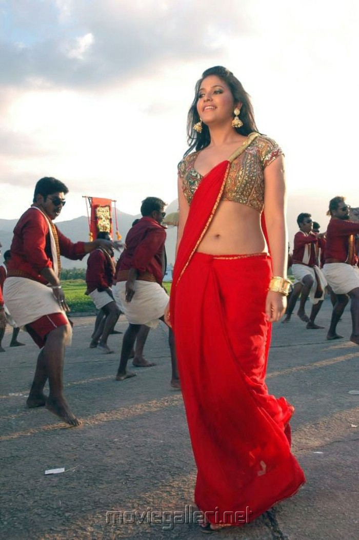 Shanvi Cute Hd Wallpapers Picture 236100 Kalakalappu Anjali Hot Pics In Red Saree