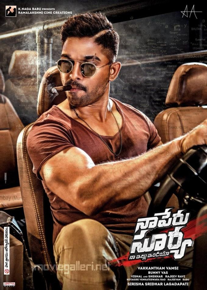 naa peru surya allu arjun new hairstyle poster | new movie