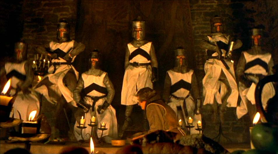 Monty Python and the Holy Grail: the round table in Camelot