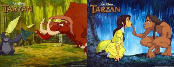 TARZAN CARTOONS ON TV AND AT THE MOVIES
