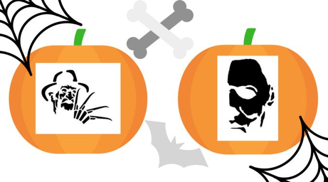 Horror pumpkin templates