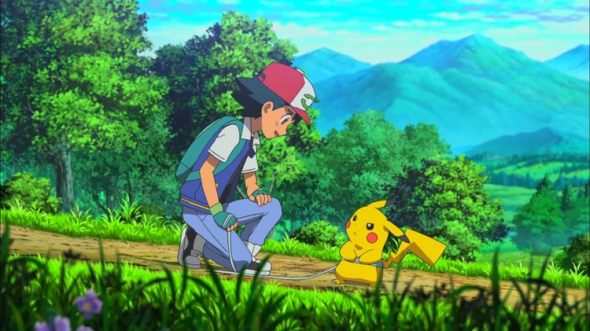 Ash and Pikachu in Pokemon the Movie: I Choose You