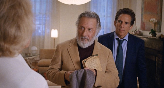 Dustin Hoffman and Ben Stiller in The Meyerowitz Stories